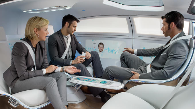 Mercedes AV Concept Work station